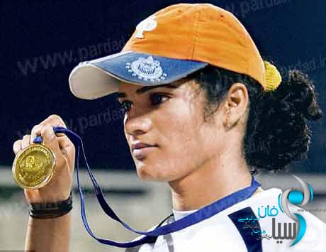 تصویر زن ورزشکار