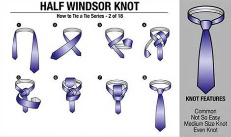 آموزش 3 مدل بستن کراوات