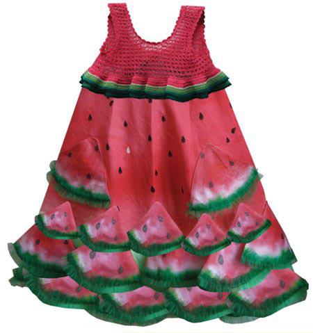 مدل لباس های جدید شب یلدا با تم هندوانه