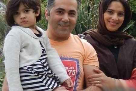 روشنک عجمیان کنار همسر و دخترش