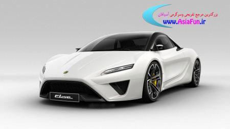 آخرین مدل ماشین لوتوس بار رنگ سفید
